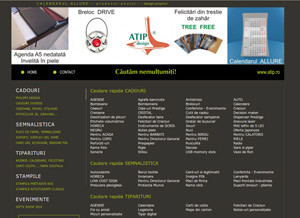 site prezentare produse, publicitate online