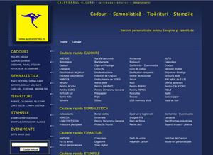 pagina web prezentare produse