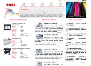 site web complex, configurator produse